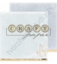 Бумага для скрапбукинга двусторонняя 30.5х30.5 см, 190 гр/м, коллекция Зимний ангел, лист Ангел