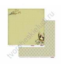 Бумага для скрапбукинга двусторонняя Весенний праздник, 30.5х30.5 см 190гр/м, лист Верба