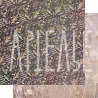 Бумага для скрапбукинга двусторонняя, коллекция PHOTOсинтез, 30х30 см плотность 190г/м, лист Тайны старых обоев