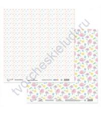 Бумага для скрапбукинга двусторонняя Сладкое время, 190 гр/м2, 30.5х30.5 см, лист 5