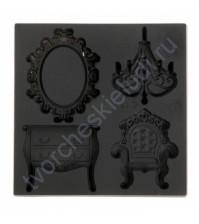 Форма силиконовая (молд) для полимерной глины, Набор Роскошная гостиная, 4 элемента, размер молда 8х8 см