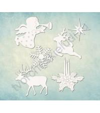 Чипборд набор Рождество, 6 элементов