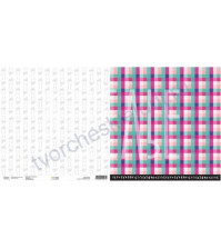 Бумага для скрапбукинга двусторонняя, коллекция ZIMAлогия, 30х30 см плотность 190г/м, лист Всем совам по рубашке