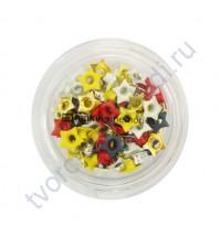 Набор люверсов Звезды, 3 мм, упаковка 75 шт в пластиковой баночке