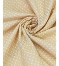Ткань для рукоделия 100% хлопок, плотность 120г/м2, размер 70х50см (+/- 2см), коллекция Горох, дизайн 4, цвет 4