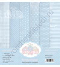 Набор односторонней бумаги для скрапбукинга Базовая голубая, 30х30 см, 250 гр/м, в наборе 12 листов