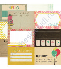 Бумага для скрапбукинга двусторонняя коллекция Birthday Wishes, 30.5х30.5 см, 190 гр/м, лист Celebrate