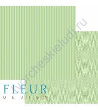 Лист бумаги для скрапбукинга Светлая зелень, коллекция Чисто и просто базовая, 30х30 см, плотность 190 гр
