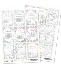 Скрап-карта А4, Календарь 2020. Времена года, без клеевого слоя