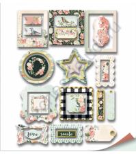 Набор декоративных рамок с фольгированием, коллекция Peaches and Cream, 25 шт