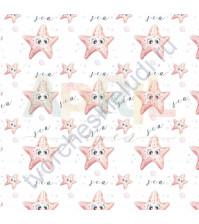 Бумага для скрапбукинга односторонняя Море волнуется РАЗ!, 30.5х30.5 см, 190 гр/м, лист Морские звёздочки