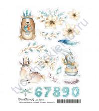 Набор декоративных наклеек Малыши 2, коллекция Этника.Детская, размер А6