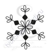 ФП печать (штамп) Снежинка-22,  2х2 см