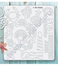 Набор чипборда Ракушки, коллекция Sea Adventure, 12 элементов