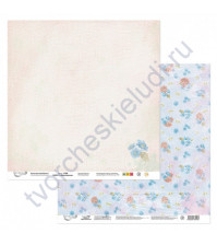 Бумага для скрапбукинга двусторонняя Вдохновение, 190 гр/м2, 30.5х30.5 см, лист 2