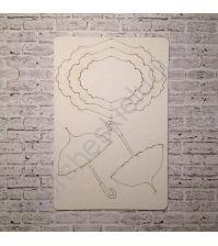 Набор чипборда коллекция Девичник-2, размер 10х15 см