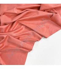 Искусственная замша двусторонняя, плотность 260 г/м2, размер 50х35 см (+/- 2см), цвет коралловый