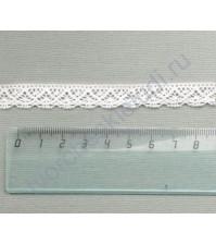 Тесьма вязаная (кружево) хлопок дизайн-21, шир. 12 мм, цвет молочный, 1 метр