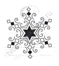 ФП печать (штамп) Снежинка-10, 2х1.7 см