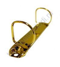 Механизм кольцевой D-образный на 2 кольца с 2-мя винтами, 20 мм, цвет золото