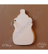 Заготовка для альбома Детская бутылочка, 10х18 см, 5 листов, без колец