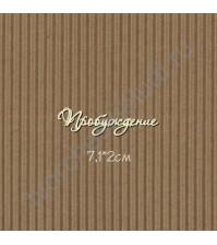 Чипборд надпись Пробуждение, 7.1х2 см