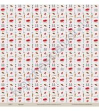 Бумага для скрапбукинга односторонняя коллекция Кулинарное искусство, 30.5х30.5 см, 190 гр/м, лист Первые блюда