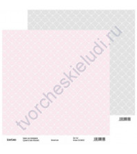 Бумага для скрапбукинга двусторонняя, коллекция Нежный шик, 30х30 см, 250 гр/м2, лист 2