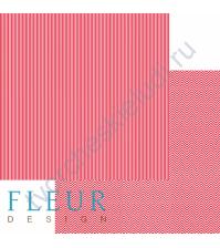 Лист бумаги для скрапбукинга Яркий красный, коллекция Чисто и просто базовая, 30х30 см, плотность 190 гр