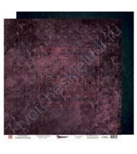 Бумага для скрапбукинга двусторонняя, 30.5х30.5 см, плотность 190 гр/м2, коллекция Die Villa, лист Дежавю