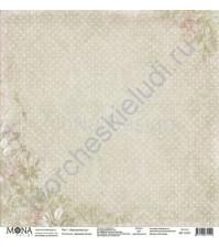 Бумага для скрапбукинга односторонняя Дыхание весны, 30.5х30.5 см, 190 гр/м, лист Элегантность