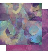 Бумага для скрапбукинга двусторонняя, коллекция Фрагменты, 30.3х30.3 см, 200 гр/м, лист 003