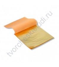 Поталь для золочения в листах, 5 листов, 14х14 см, цвет золото