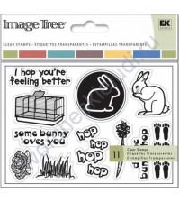 Набор штампов Rabbit, 11 элементов, размер набора 9х13 см