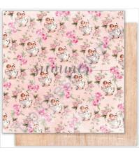 Бумага для скрапбукинга двусторонняя 30.5х30.5 см, 190 гр/м, коллекция My honey bunny, лист Lets dance