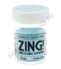 Пудра для эмбоссинга матовая ZING!, 28.4 гр, цвет Powder (небесно-голубой)