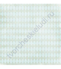 Бумага для скрапбукинга односторонняя коллекция Attic Treasures, 30.5х30.5 см, 180 гр/м, лист Green Argyle