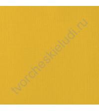 Кардсток текстурированный Горчица (Mustard), 30.5х30.5 см, 216 гр/м2