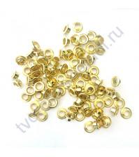 Набор люверсов, 4.8 мм, упаковка 50 шт., цвет золото