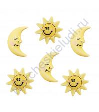 Набор пуговиц The Sun and Moon, 6 элементов