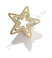 Набор шейкеров Звезда острые лучи, 3 элемента, толщ. 2 мм, цвет молочный