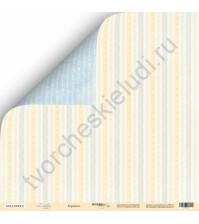 Бумага для скрапбукинга двусторонняя 30.5х30.5 см, 190 гр/м, коллекция Little Bear, лист Карамель