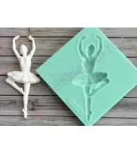 Форма силиконовая (молд) для полимерной глины, Балерина-4