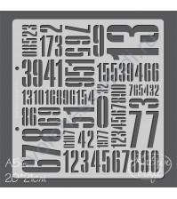 Трафарет Цифры-2 фоновый, 20х21 см