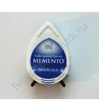 Подушечка чернильная водорастворимая капля Memento, размер 32Х50мм, цвет голубой дунай