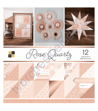Набор двусторонней бумаги с фольгированием Rose Qurtz, 30.5х30.5 см, 36 листов (ЦЕНА УКАЗАНА ЗА 1/2 ЧАСТЬ НАБОРА - 18 листов)