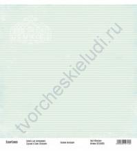 Бумага для скрапбукинга односторонняя, коллекция Базовая зеленая, 30х30 см, 250 гр/м2, лист Полоски