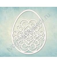 Чипборд Пасхальное яйцо, размер 59×73 мм