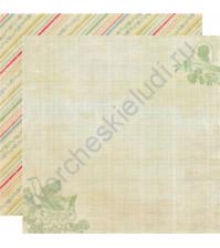 Бумага для скрапбукинга двусторонняя коллекция Precious, 30.5х30.5 см, 220 гр/м, лист Stroll