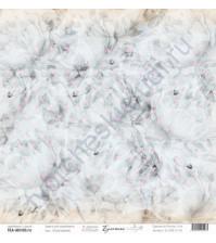 Бумага для скрапбукинга односторонняя, коллекция Бумажные птицы, 30.5х30.5 см, 190 гр\м2, лист Пробуждение